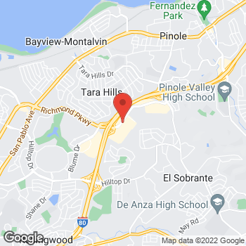 Map of Panera Bread at 1376 Fitzgerald Drive, Pinole, CA 94564