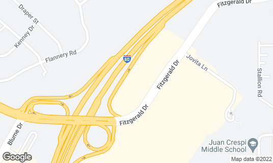 Map of Applebee's at 1369 Fitzgerald Dr Pinole, CA
