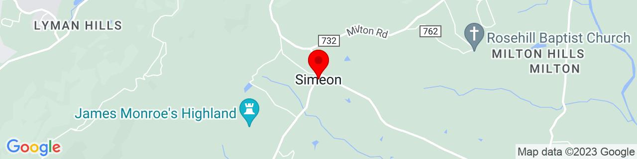 Google Map of 37.98872800000001, -78.443382