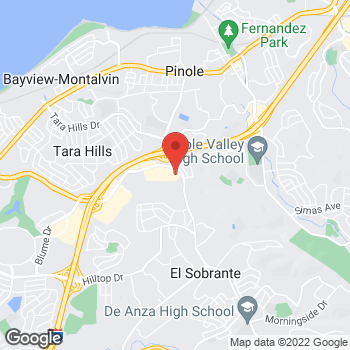 Map of Check `n Go Fitzgerald Drive at 1578 Fitzgerald Drive, Pinole, CA 94564