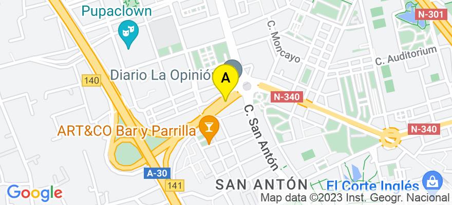 situacion en el mapa de . Direccion: Ronda Norte, 30009 Murcia. Murcia