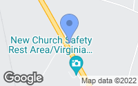 Map of New Church, VA