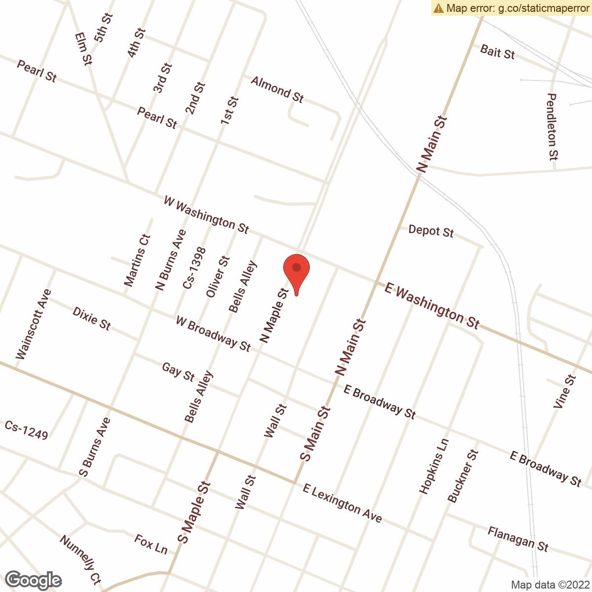 map to Central Bank ATM – North Maple Street