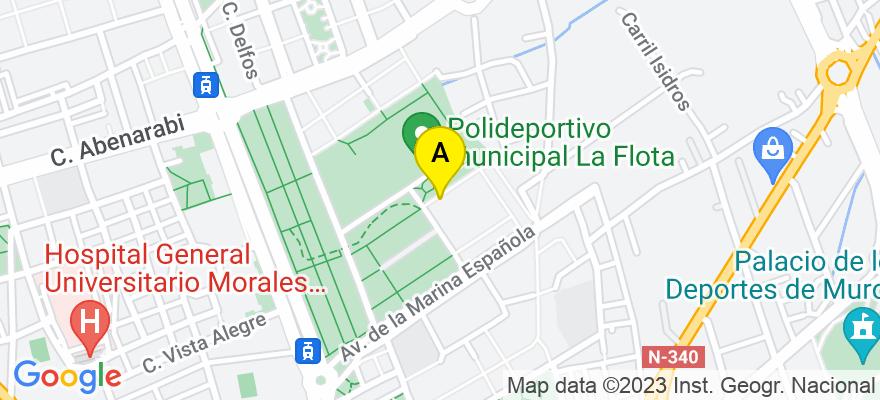 situacion en el mapa de . Direccion: Pº Científico Gabriel Ciscar 14, 30007 Murcia. Murcia