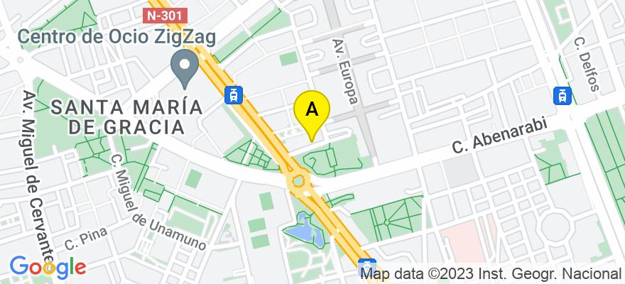 situacion en el mapa de . Direccion: AV DE EUROPA, 22, 30007 Murcia. Murcia