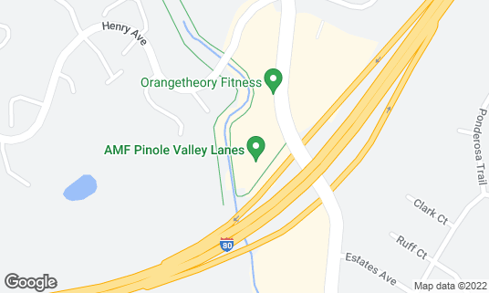 Map of AMF Pinole Valley Lanes at 1580 Pinole Valley Rd Pinole, CA