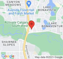 Google Map of 370+Canyon+Meadows+Drive+S.E.%2CCalgary%2CAlberta+T2J+7C6
