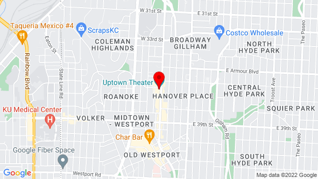 Google Map of 3700 Broadway, Kansas City, MO 64111