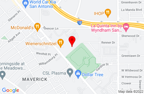 Google Map of 3700 Fredericksburg Rd, Suite 151
