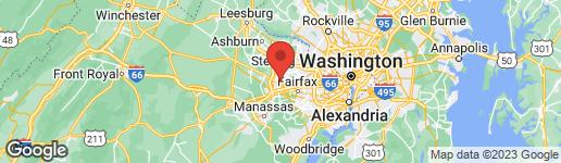 Map of 3705 FREEHILL LANE FAIRFAX, VA 22033