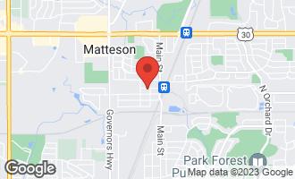 Map of 3711 215th Street MATTESON, IL 60443