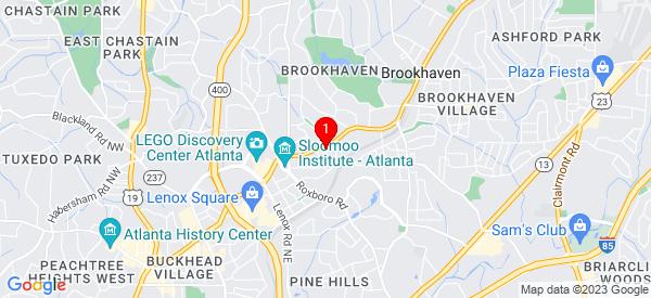 Google Map of 3715 Peachtree Rd NE Atlanta, ga 30319