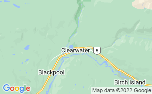 Map of Clearwater/Wells Gray KOA