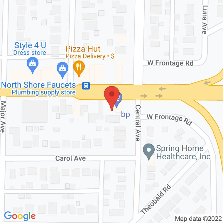 Google Map of 3735 W Dempster St, Skokie, IL, 60076