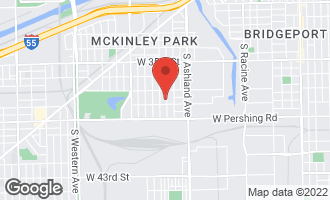 Map of 3738 South Hermitage Avenue #2 CHICAGO, IL 60609