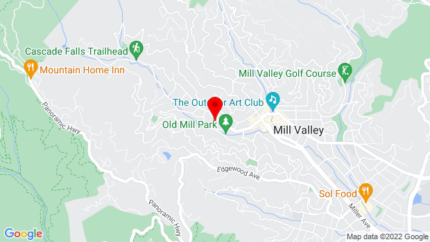 Google Map of 375 Throckmorton Ave., Mill Valley, CA 94941