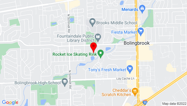 Google Map of 375 W Briarcliff Rd, Bolingbrook, IL 60440