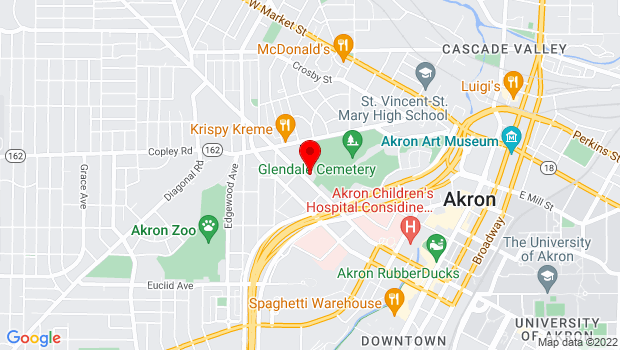 Google Map of 375 W Exchange St, Akron, OH 44302