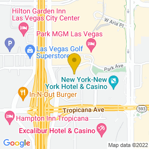 Map to T-Mobile Arena Las Vegas provided by Google