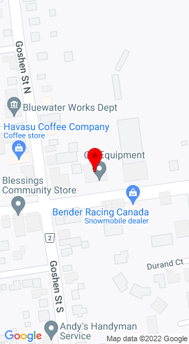 Google Map of CG Equipment 38 Main Street, Zurich, Ontario, Canada, N0M 2TO