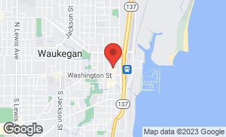 Map of 38 North Genesee Street WAUKEGAN, IL 60085