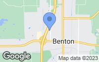Map of Benton, IL