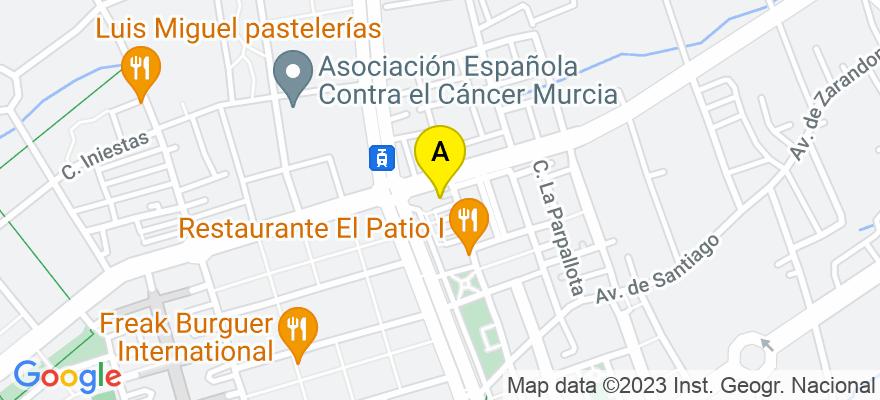 situacion en el mapa de . Direccion: Calle de los Mártires 3, 30007 Murcia. Murcia