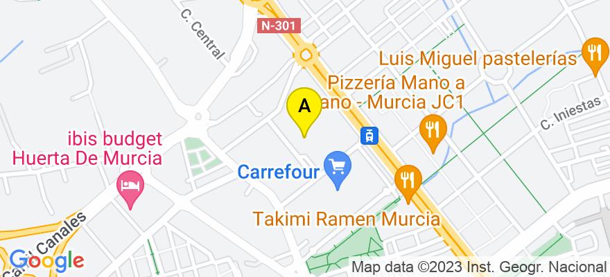situacion en el mapa de . Direccion: Calle Madre Paula Gil Cano, 2, 6º - Torre Jemeca., 30009 Murcia. Murcia