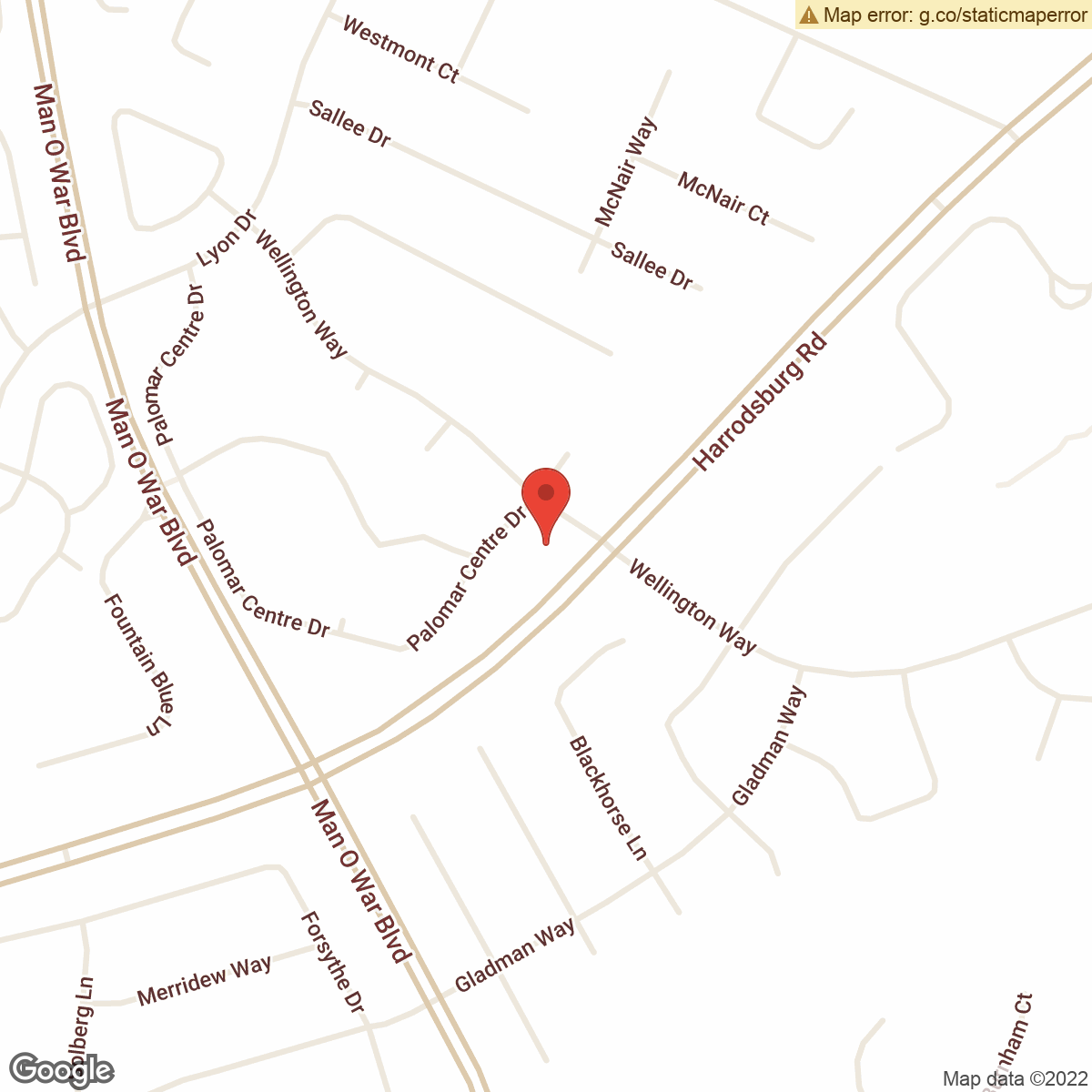 map to Central Bank ATM – Palomar Centre