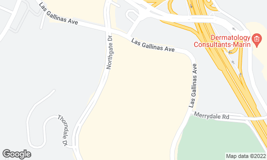 Map of BJ's Restaurant and Brewhouse at 5800 Northgate Dr Ste 159 San Rafael, CA