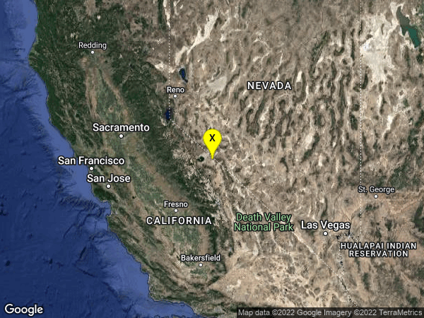 earthquake 35km SSW of Qualeys Camp, NV
