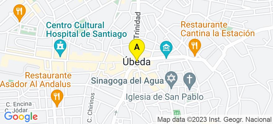 situacion en el mapa de . Direccion: Eucalipto,38, 23400 Úbeda. Jaén