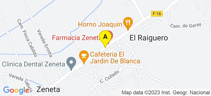 situacion en el mapa de . Direccion: Avenida Juan Carlos I, nº 88, Esc. 1 - 2º B, 30007 Murcia. Murcia