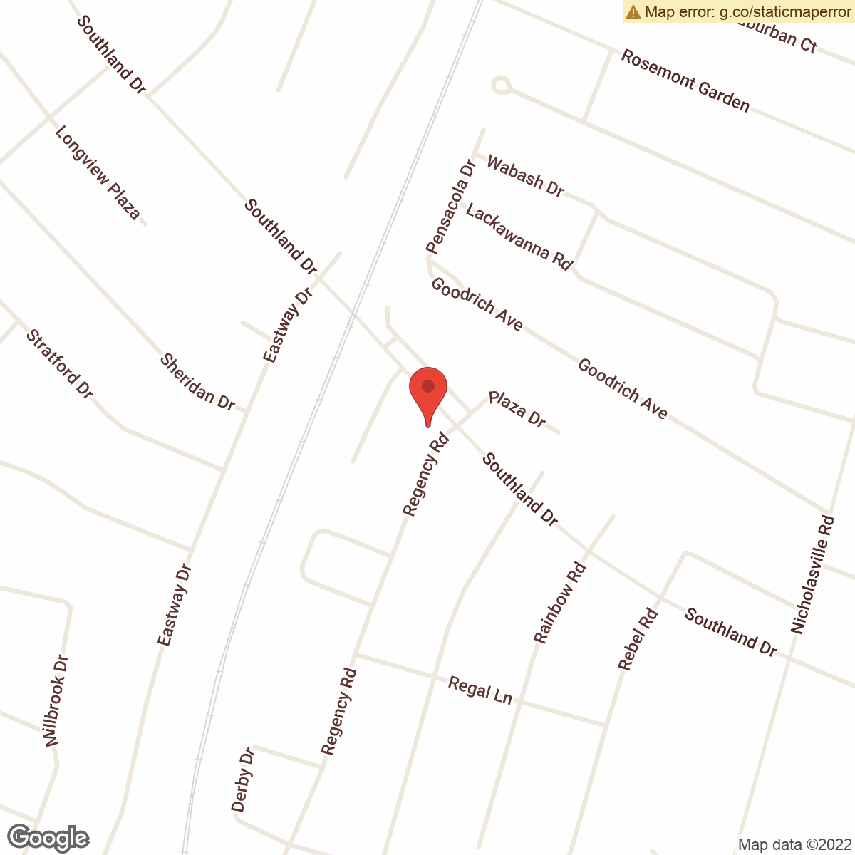 map to Central Bank ATM – Southland Drive