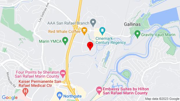 Google Map of 17 Mark Drive, San Rafael, CA 94903