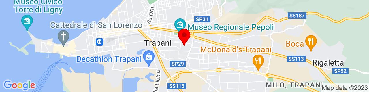 Google Map of 38.0160543, 12.5437475