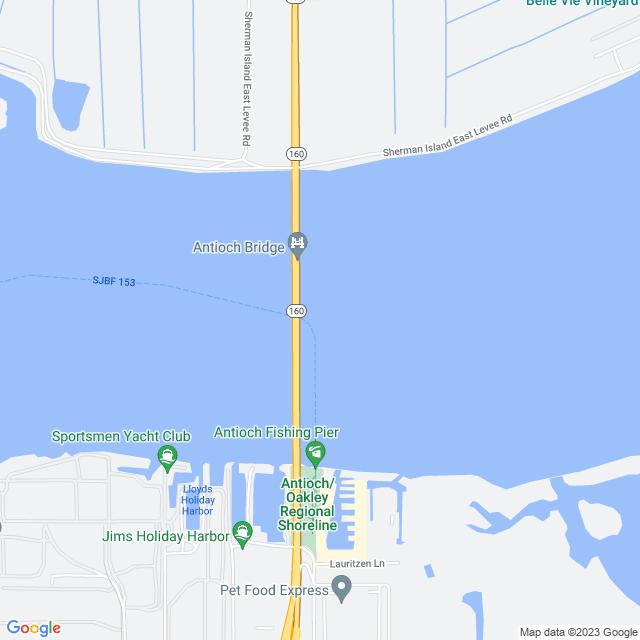 Map of Antioch Bridge