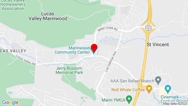Google Map of 775 Miller Creek Road, San Rafael, CA 94903