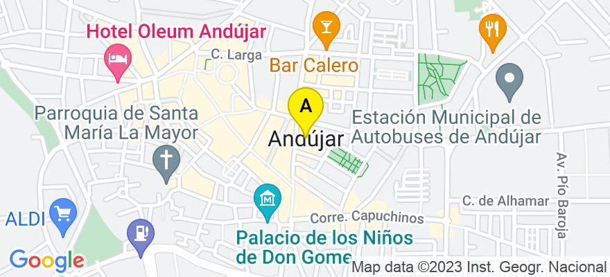 situacion en el mapa de . Direccion: Jaén, 23001 Andújar. Jaén