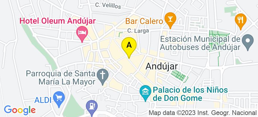 situacion en el mapa de . Direccion: Ollerías 30 2º, 23740 Andújar. Jaén