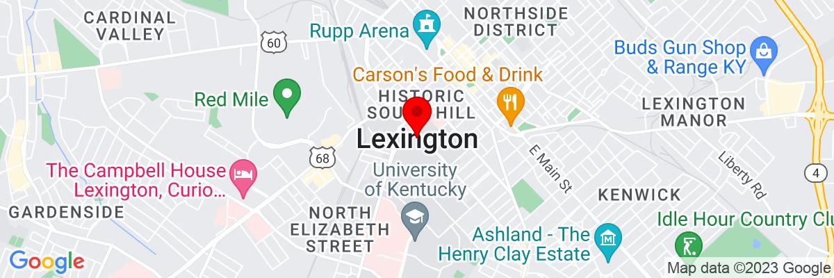 Google Map of 38.040583611111,-84.503716388889