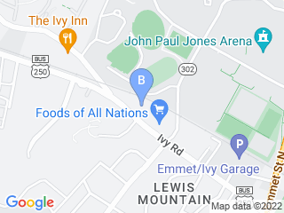 Map of Animal Hospital of Ivy Square Dog Boarding options in Charlottesville | Boarding