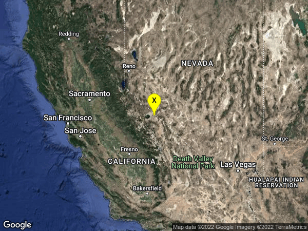 earthquake 31km SE of Bodie, CA