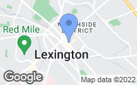 Map of Lexington, KY