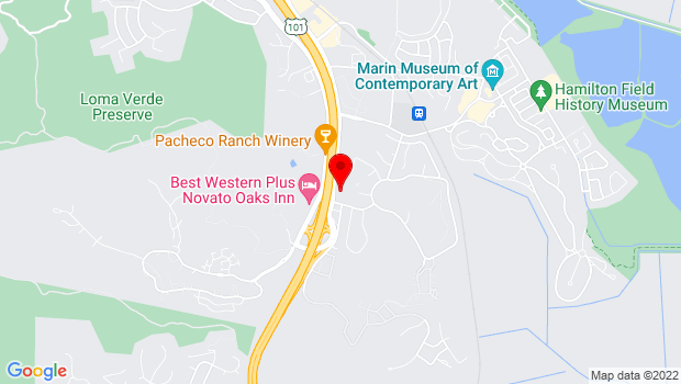 Google Map of 5420 Nave Drive, Suite C, Novato, CA 94949