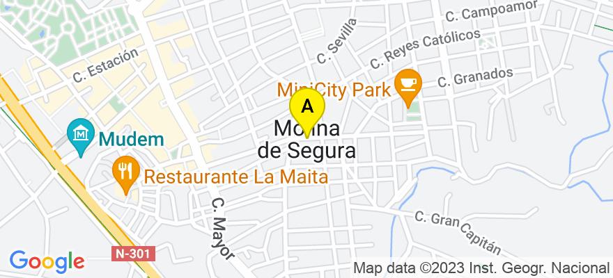 situacion en el mapa de . Direccion: Plaza de la Molinera 3 Entresuelo F, 30500 Molina de Segura. Murcia