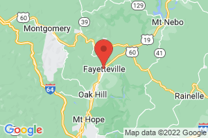 Map of Fayetteville