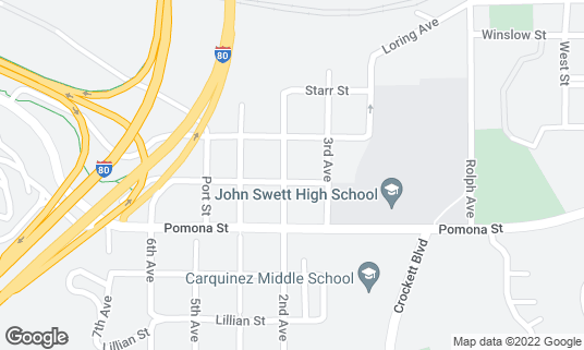 Map of Toots Tavern at 627 2nd Ave Crockett, CA