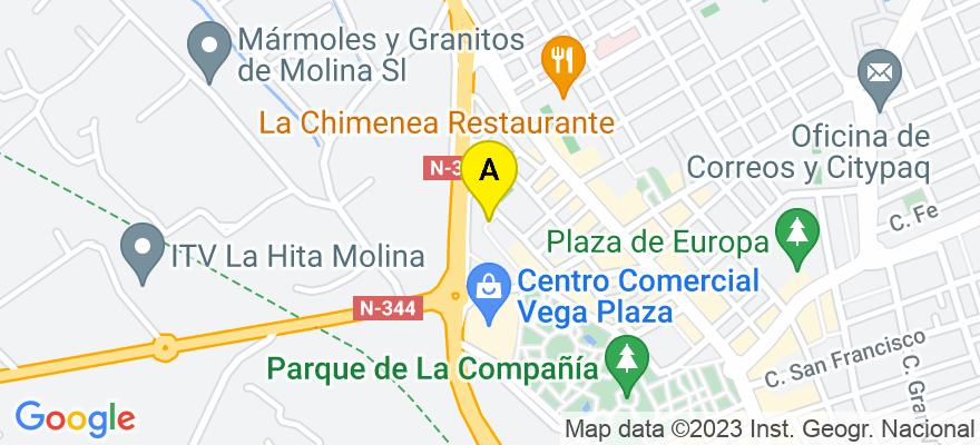 situacion en el mapa de . Direccion: Calle faro n 10, 30500 Molina de Segura. Murcia