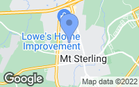 Map of Mount Sterling, KY